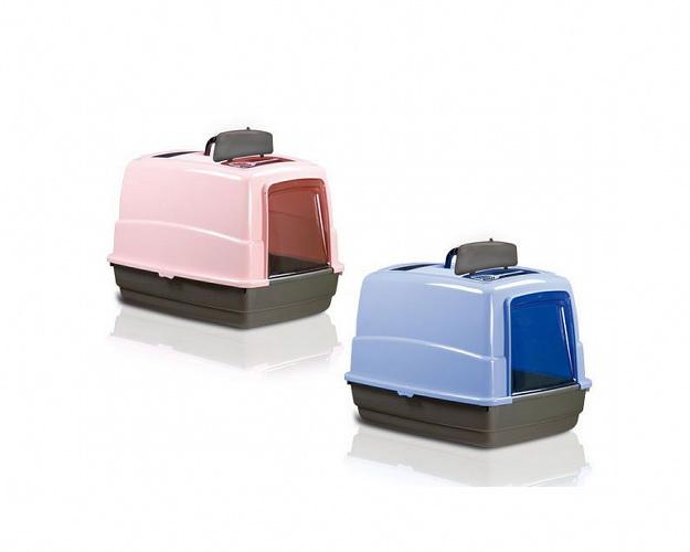 Биотуалет Joy Cat.  Биотуалеты для кошек Размер 54-39-39см Расцветка: розовый верх/темный низ голубой верх/темный низ.